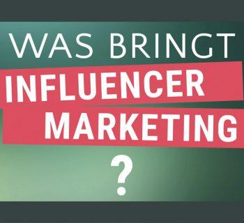 Neue Influencer Marketing Effizienzstudie