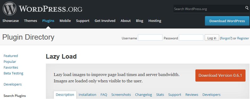 Wordpress Plugins lazy-load