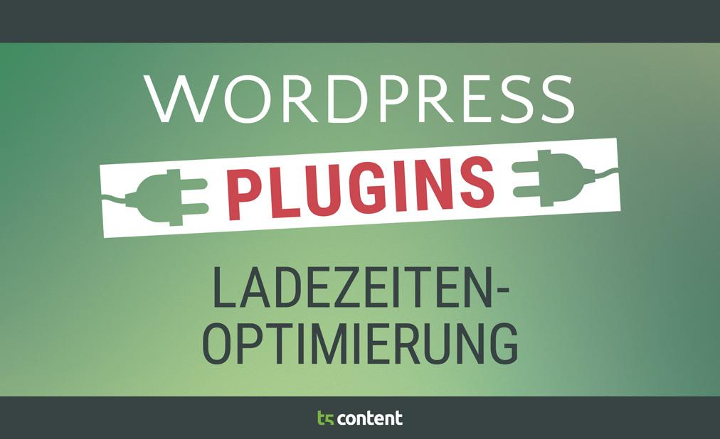 WordPress Plugins um Blogladezeiten zu optimieren