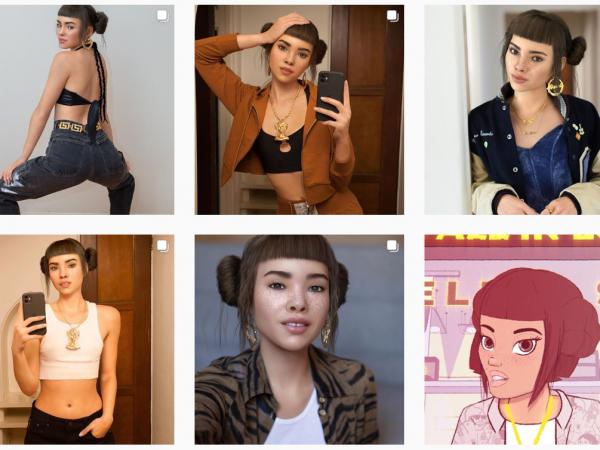 Virtuelle Influencer Lil Miquela Instagram